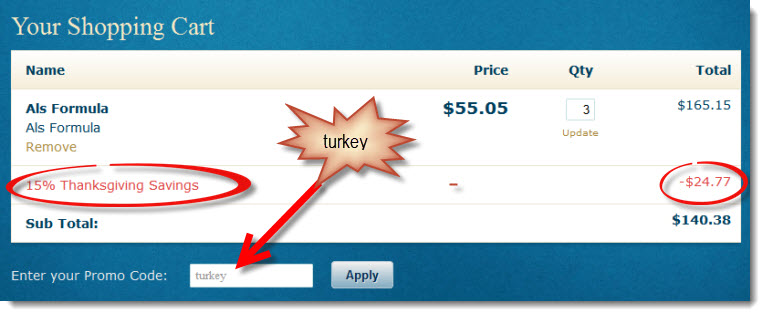 Dr.  Z's Thanksgiving Savings